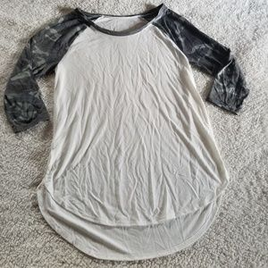 4/$25 camo sleeve raglan shirt